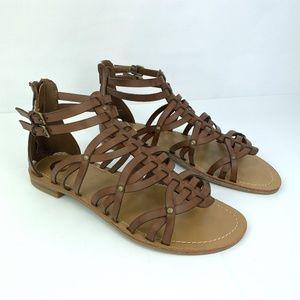 Guess Hendal Brown Strappy Sandal 8.5
